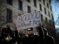 Ratusan Pegawai Federal AS Demo di Gedung Putih: Kami Ingin Gaji Kami!