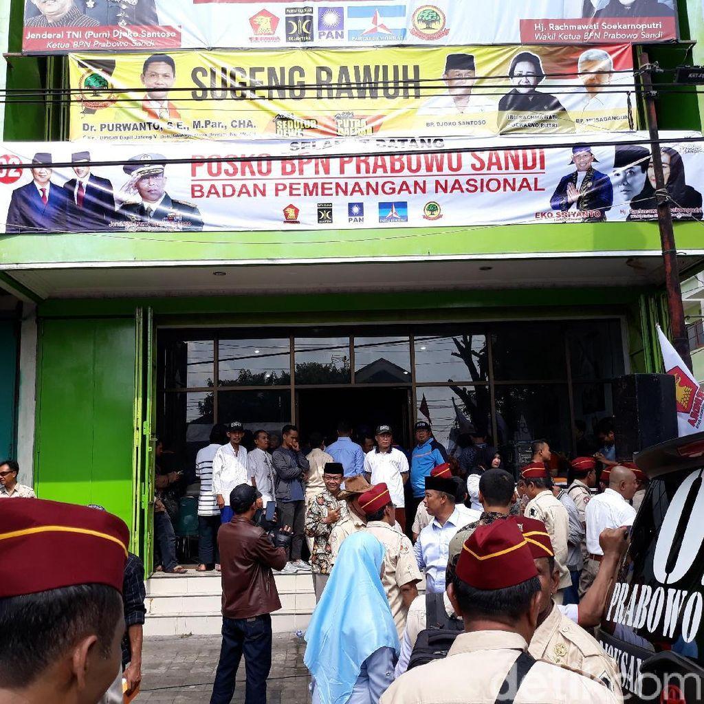 Djoko Santoso Resmikan Posko Prabowo-Sandi di Dekat Rumah Jokowi