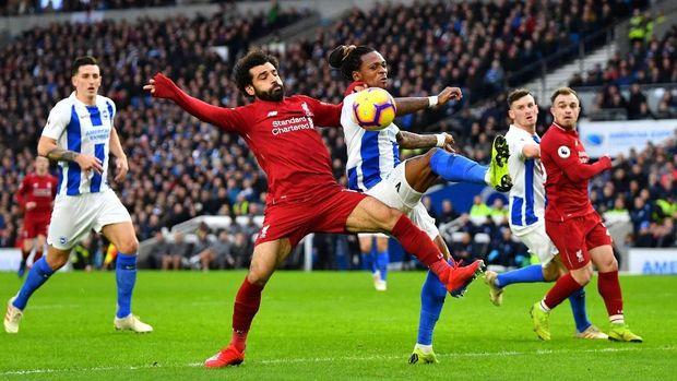 Mohamed Salah masih kesulitan menciptakan peluang.