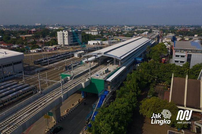 Ini adalah penampakan terkini Stasiun Lebak Bulus MRT Jakarta. Foto: Dok. MRT Jakarta