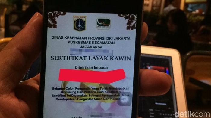 Menurut Dinkes DKI Jakarta, tidak ada sanksi bagi calon pengantin yang tidak melakukan tes kesehatan. Namun penting untuk dilakukan demi generasi mendatang. Foto: detikHealth