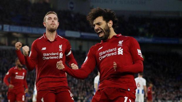 Mohamed Salah jadi pahlawan kemenangan Liverpool.