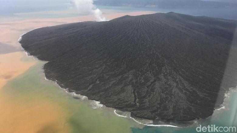 Foto: Melihat Lebih Dekat Kawah Gunung Anak Krakatau
