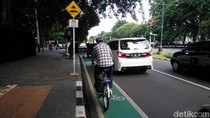 Masuk Jalur Sepeda DKI Akan Didenda Rp 500 Ribu Sampai Diderek