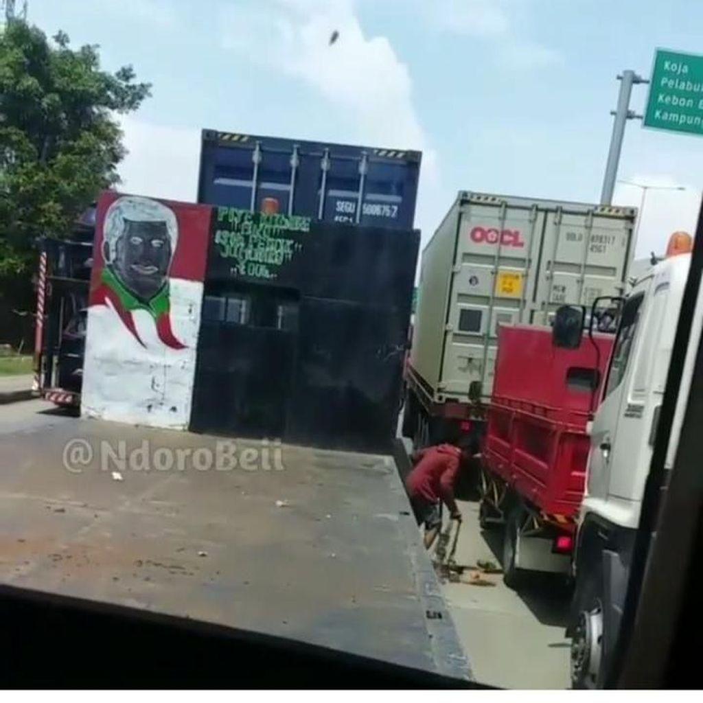 Video Aksi Bajing Loncat di Jakarta Utara