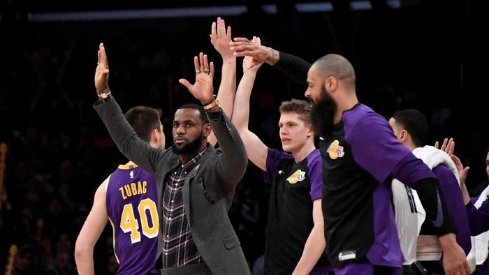 LeBron James sudah absen di sembilan gim terakhir LA Lakers (Kirby Lee-USA TODAY Sports)