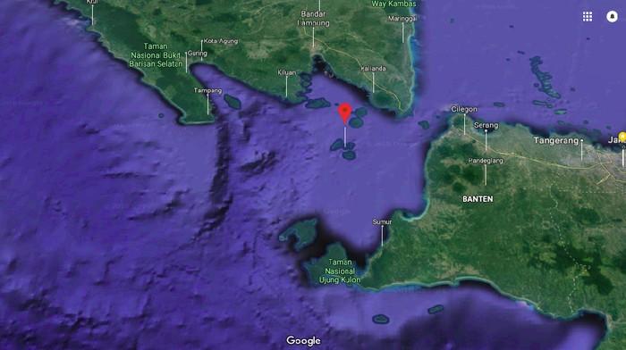 Selat Sunda (Google Maps)
