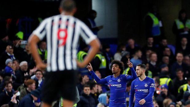Chelsea kalahkan Newcastle 2-1 di Stamford Bridge.