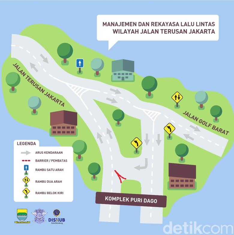 Besok, Jalan Kawasan Antapani dan Sukajadi Bandung Direkayasa