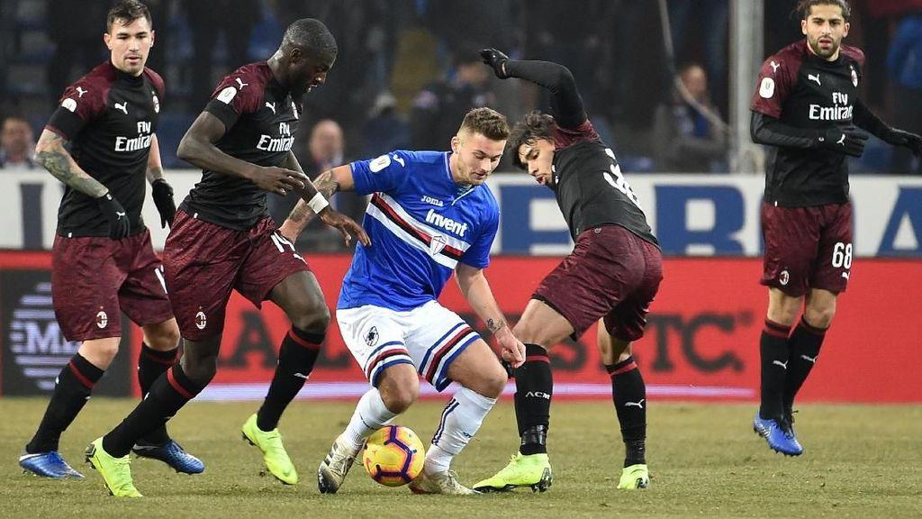 Sepasang Gol Cutrone Loloskan Milan ke Perempatfinal Coppa Italia