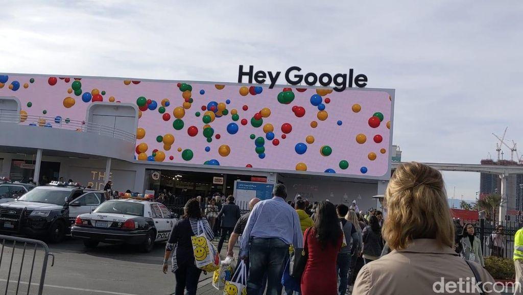 Sebuah booth khusus dipersiapakan Google yang menempati area di Las Vegas Convention Center. Foto: Adi Fida Rahman/detikINET