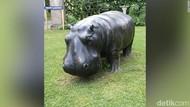 Patung Perunggu Kuda Nil Seberat 680 Kg di Inggris Hilang Dicuri