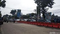 Rekayasa Lalin, Kawasan Antapani Dipasang Pembatas Jalan