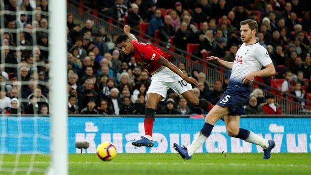 Man United menang 1-0 atas Tottenham Hotspur lewat gol Marcus Rashford.