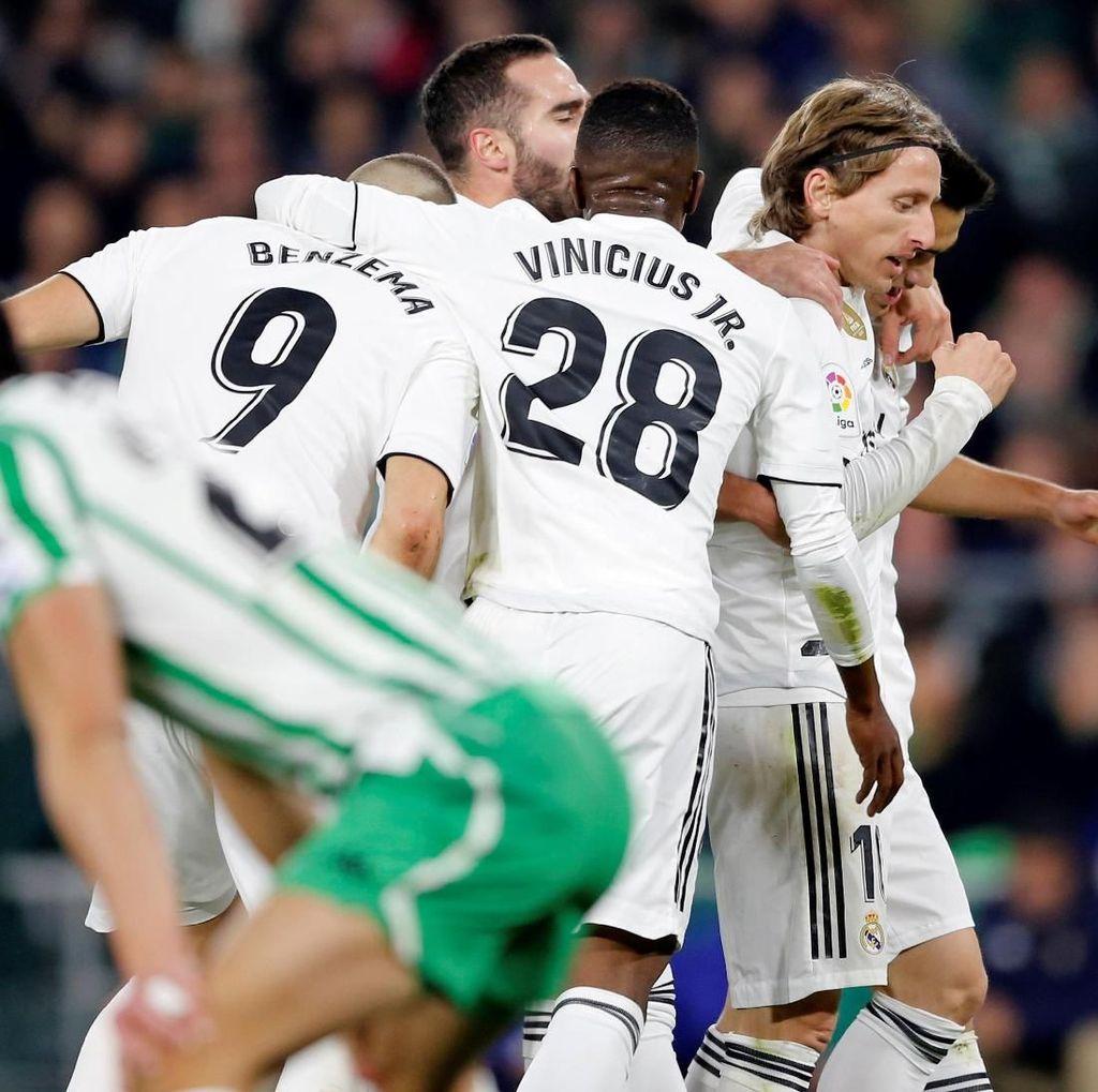 Hasil Liga Spanyol: Madrid Kalahkan Betis 2-1