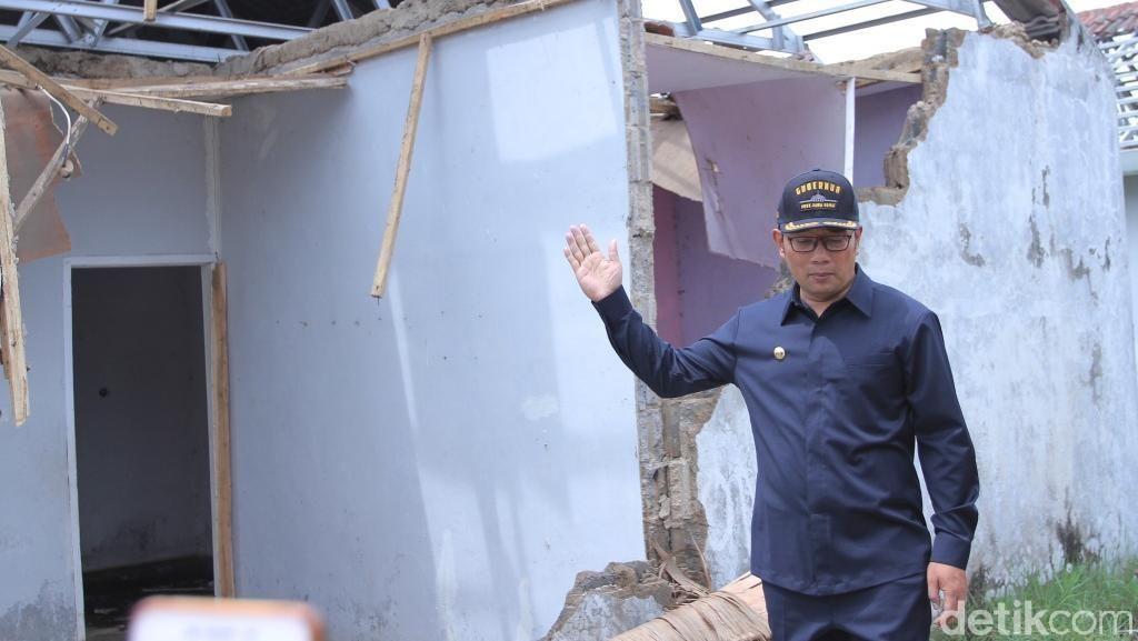 Ridwan Kamil Janjikan Bantuan untuk Korban Puting Beliung