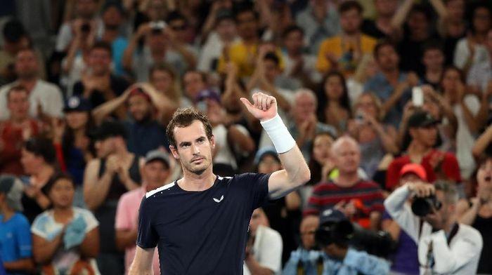 Andy Murray langsung kalah di Australia Terbuka terakhir dalam kariernya. Foto: Lucy Nicholson/Reuters