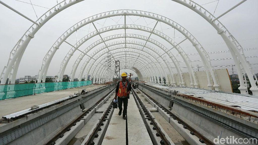 Dioperasikan 2021, LRT Jabodebek Baru Rampung 62%