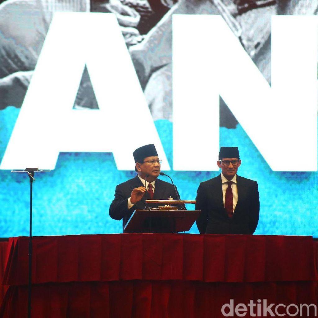 Prabowo-Sandiaga Persiapan Debat di Hambalang