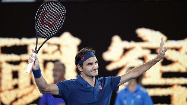 Roger Federer melewati babak pertama Australia Terbuka 2019.