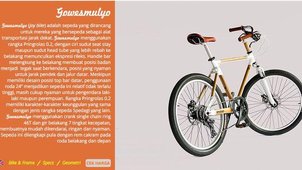 Jenis sepeda ini ditujukan untuk jarak pendek dan jalan datar.