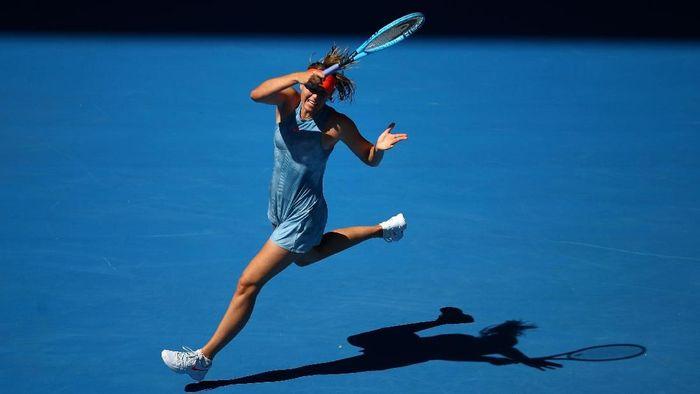 Maria Sharapova menang tanpa kehilangan gim di babak pertama Australia Terbuka 2019 (Foto: Julian Finney/Getty Images)