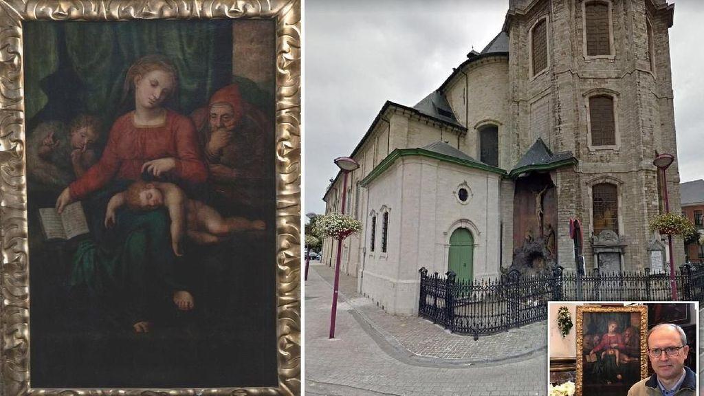 Lukisan Sakral Michelangelo dari Abad ke-16 di Gereja Belgia Hilang