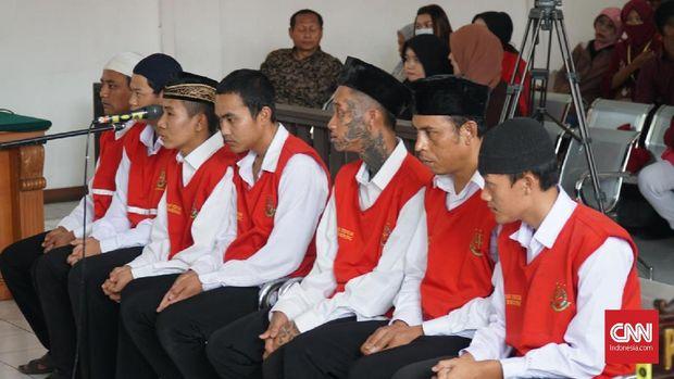 Sebanyak tujuh terdakwa penganiaya Haringga Sirla kembali menjalani sidang. (