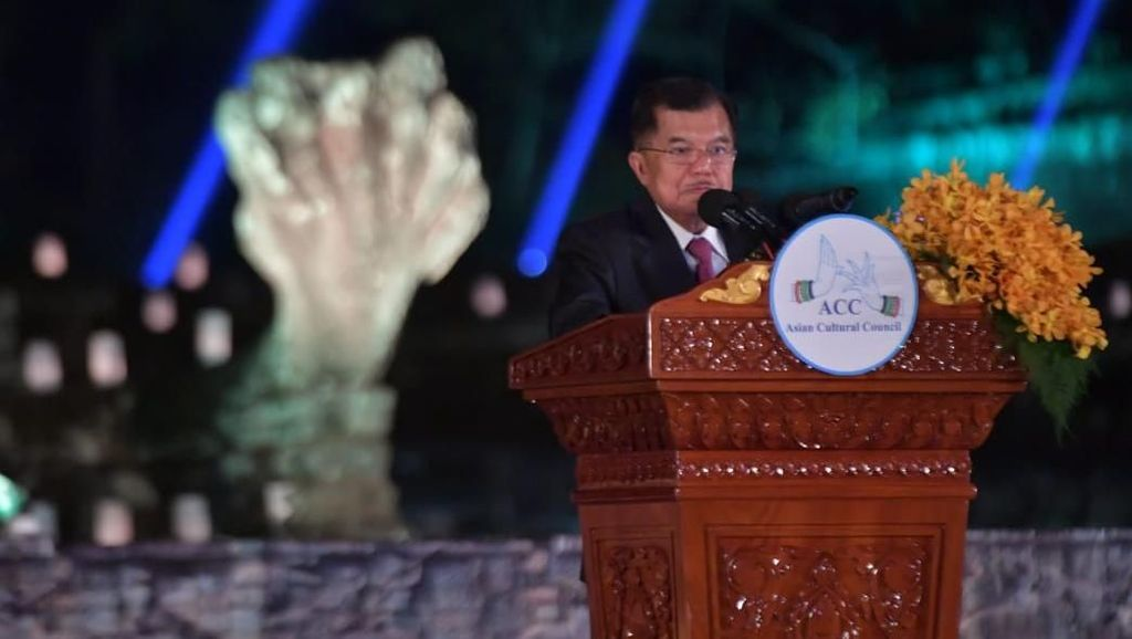 Di Forum Dewan Kebudayaan Asia, JK Bicara Konsep Bhinneka Tunggal Ika