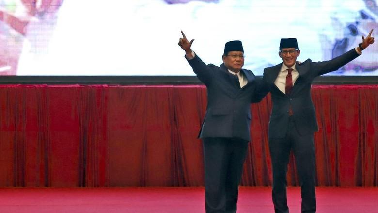 Jelang Debat Pilpres, Prabowo-Sandiaga akan Matangkan Pola Interaksi