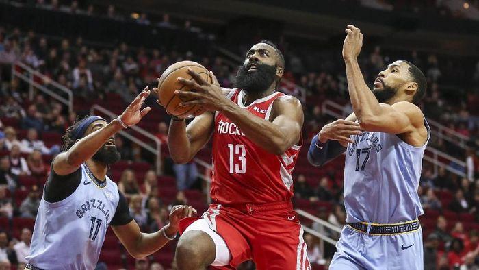 James Harden bikin 57 poin untuk Houston Rockets (Troy Taormina-USA TODAY Sports)