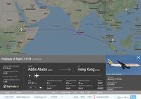 Jejak Pesawat Ethiopia yang Dipaksa Turun Panglima TNI