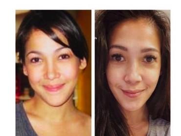 Mieke Amalia saat sebelum dan sesudah punya anak? Tak ada beda rasanya. (Foto: Instagram/mieke_amalia)