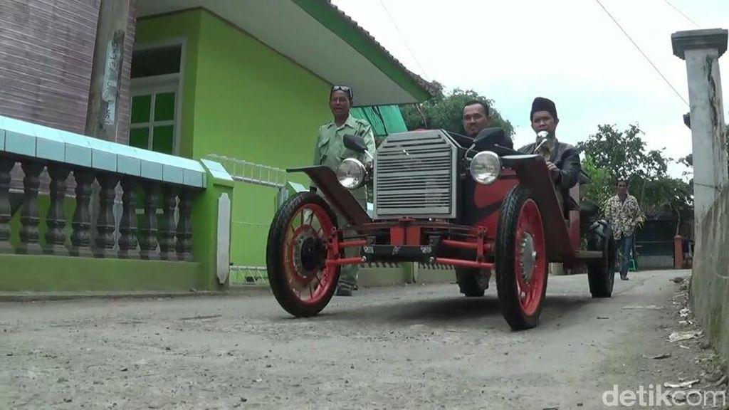 Kreatif! Urang Tasik Buat Mobil Antik Royal Wedding dari Besi Bekas