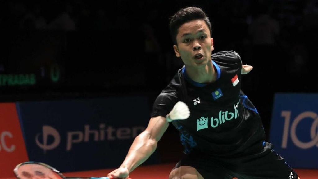 Tarung Tiga Gim, Anthony Lolos ke Babak Kedua Malaysia Masters
