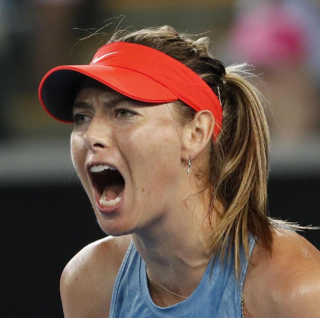 Video Aksi Sharapova Taklukkan Wozniacki