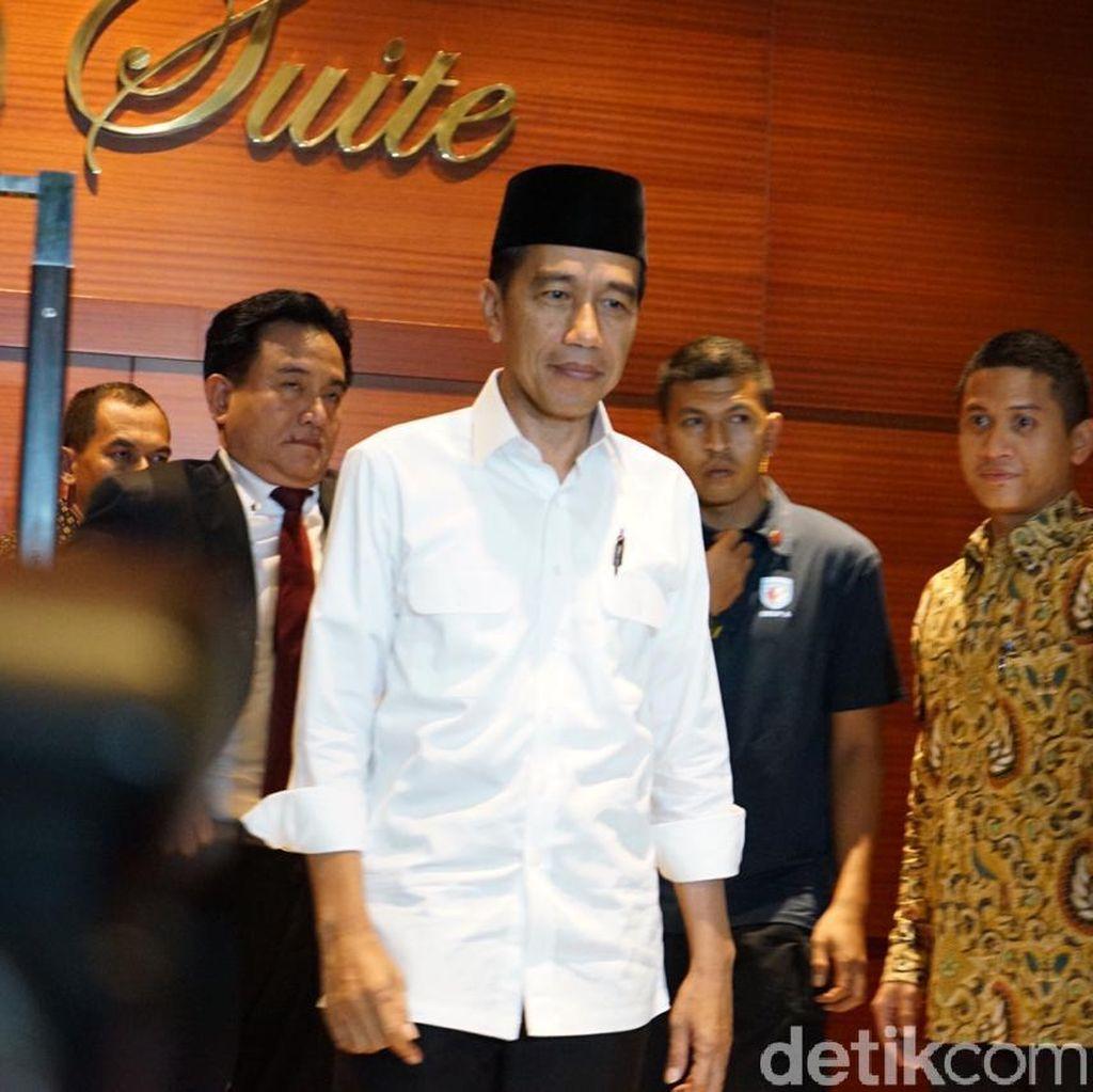 Persiapan Debat Perdana, Jokowi-Maruf Bahas Posisi Duduk