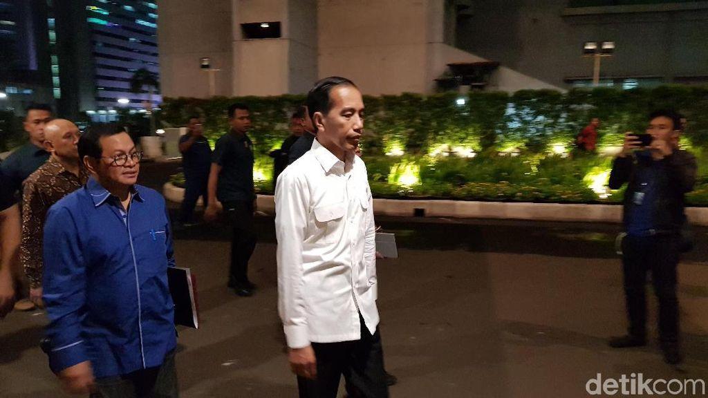 Jokowi Tiba di Djakarta Theater untuk Latihan Debat