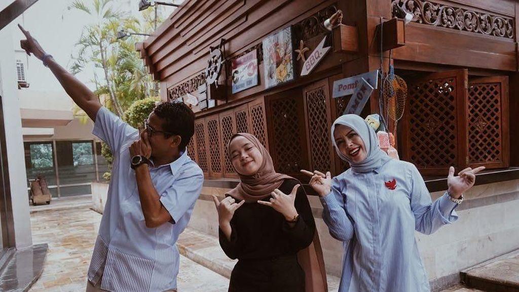 Nissa Sabyan Diajak Makan Siang Bareng Sandiaga Uno
