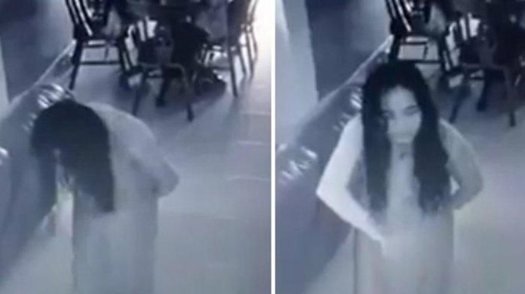 Hii..! Ini Penampakan Hantu Muka Rata di Restoran
