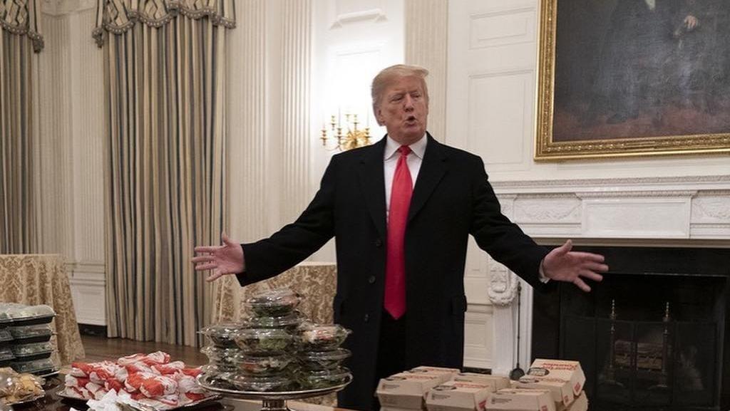 Dari Kicauan Hamberder, Begini Suasana Pesta Junk Food di Gedung Putih