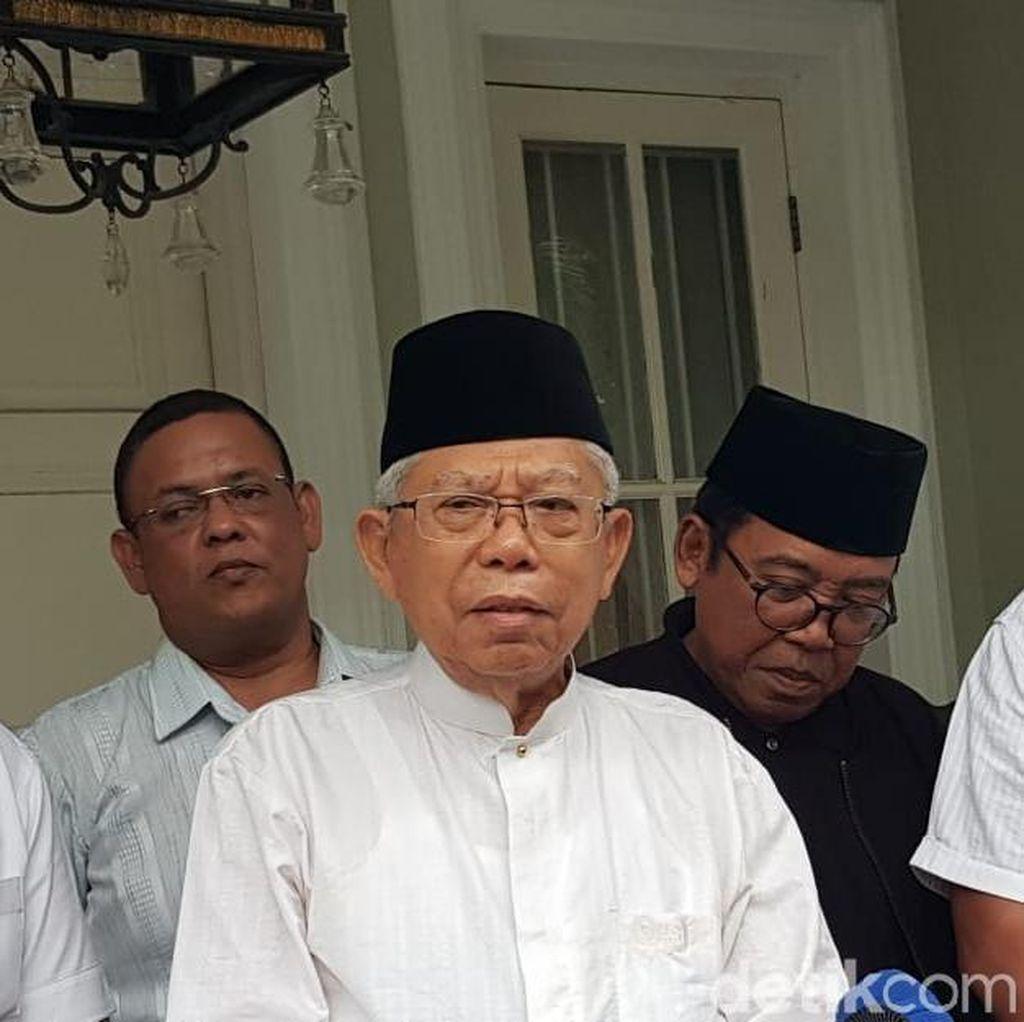 Bagi Tugas di Debat, Maruf: Opening-Closing Disampaikan Pak Jokowi