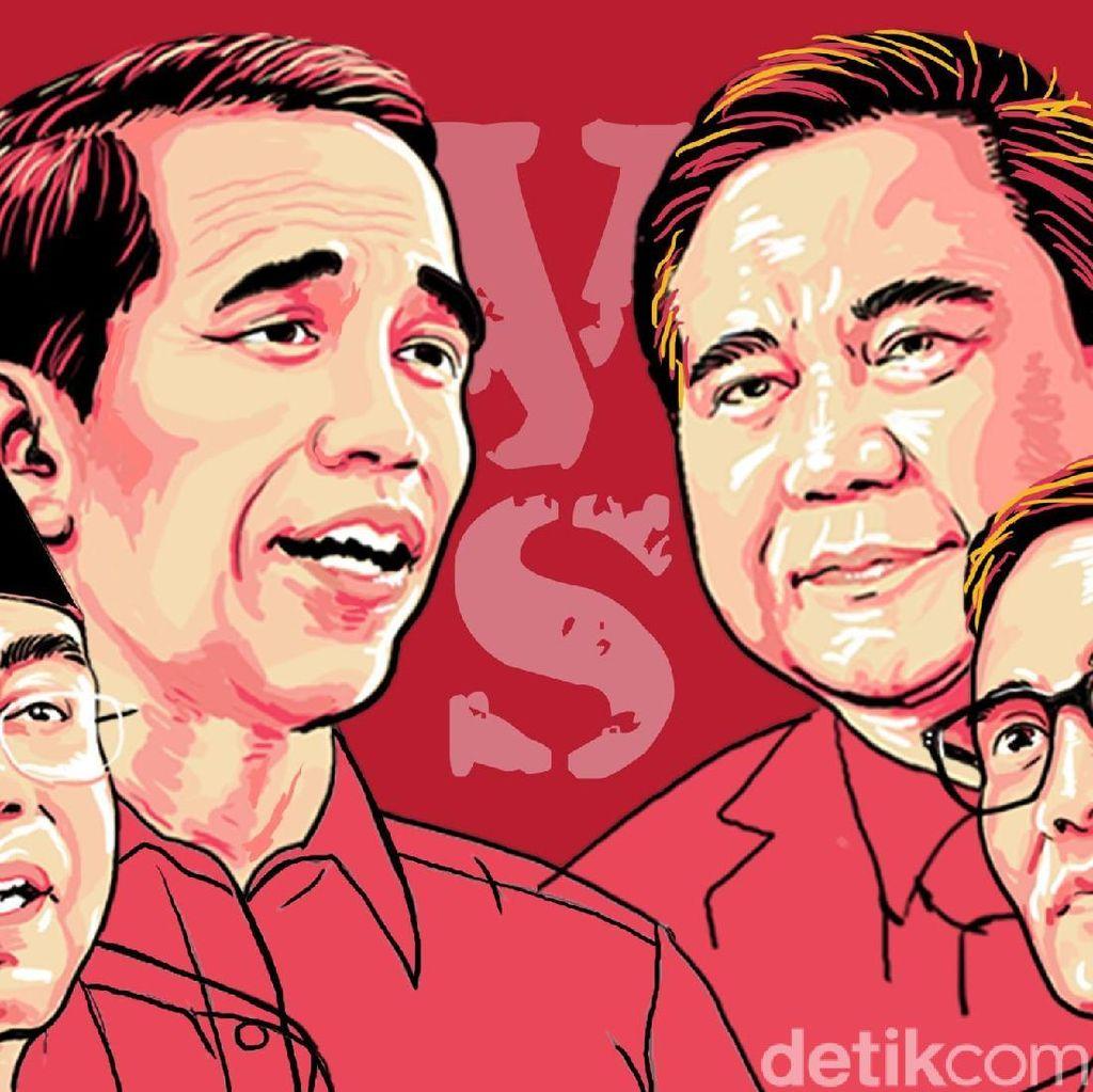 Kostum Debat: Jokowi-Maruf Merah Putih, Prabowo-Sandi Jas Hitam