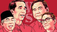 Kostum Debat: Jokowi-Ma'ruf Putih, Prabowo-Sandi Jas Hitam