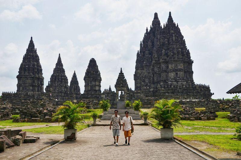 Candi Prambanan berada di Sleman, Yogyakarta. (Satria Nandha/detikTravel)
