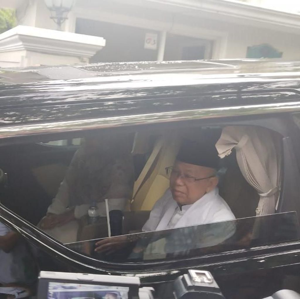 Berangkat Debat Pilpres Bareng Jokowi, Maruf Amin Menuju Istana