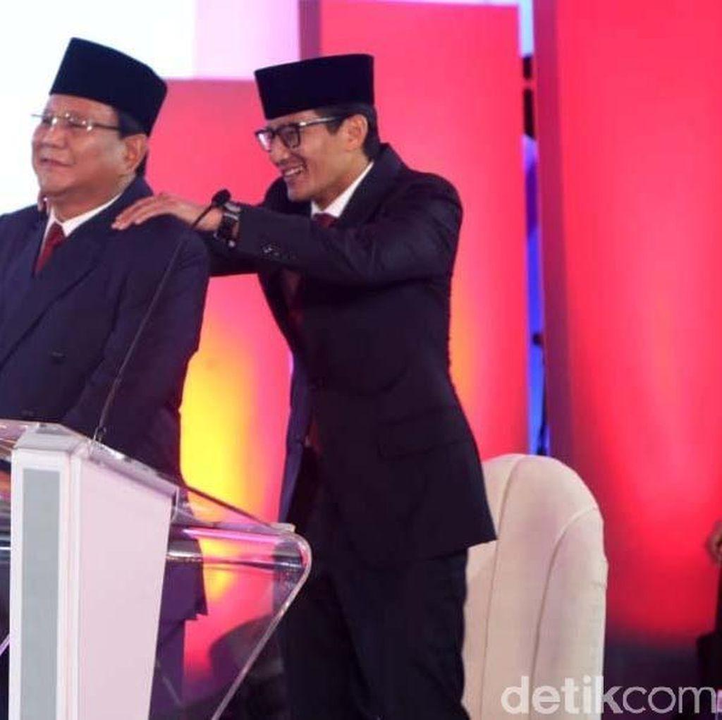 Prabowo: Tidur Nyenyak Malam Ini Setelah Dipijat Sandiaga