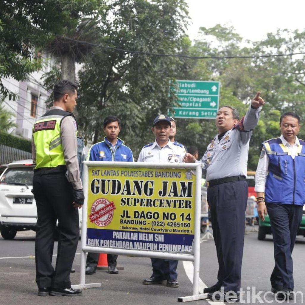Mulai Hari Ini Rekayasa Jalan Sukajadi Bandung Diberlakukan