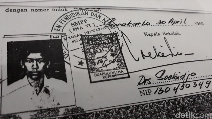 Copy ijazah SMA Jokowi (Foto: Bayu Ardi Isnanto/detikcom)