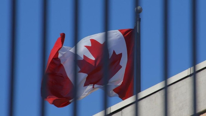 The Canadian national flag flies above the Canadian embassy in Beijing, China, January 15, 2019.  REUTERS/Thomas Peter
